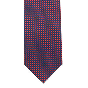 Renato Balestra Navy Blue Red 100% Silk Neck Tie